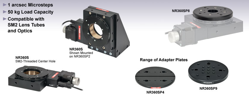 360 Degree Continuous Rotation Stage with Stepper Motor Actuator