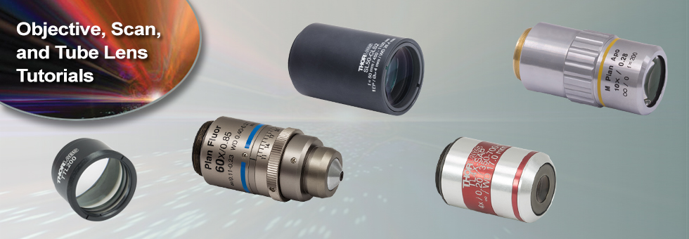 Microscope Objective, Tube, and Scan Lens Tutorials