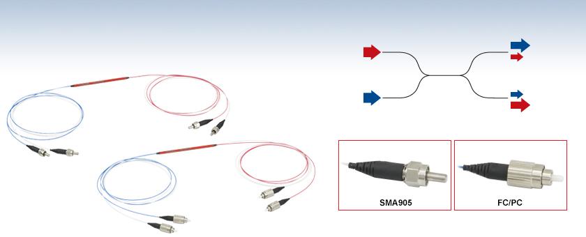 2x2 Step-Index Multimode Fiber Optic Couplers, Ø105 µm Core, 0 22 NA