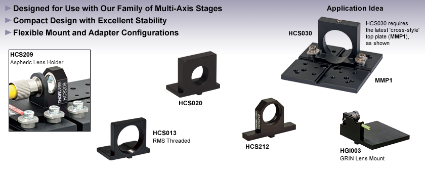 Fixed Flexure Stage Mounts and Accessories