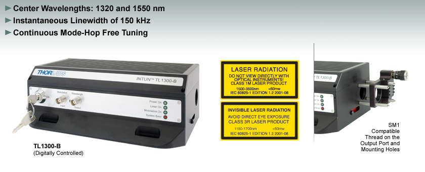 INTUN Series Tunable Lasers