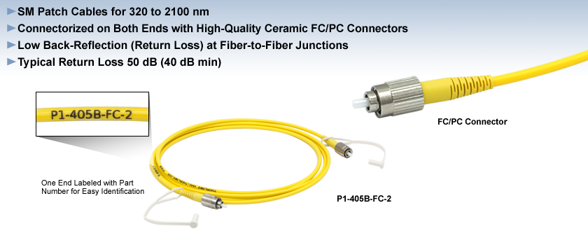 Single Mode FC/PC Fiber Optic Patch Cables