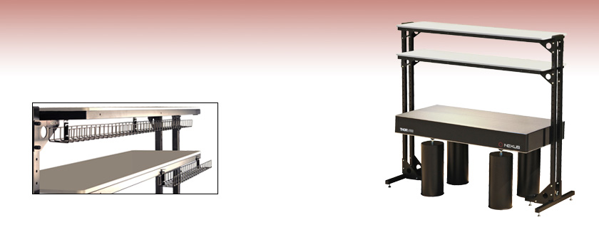 optical tables shelves free standing