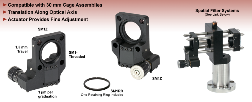 Z-Axis Translation Mount for 30mm Cage Systems