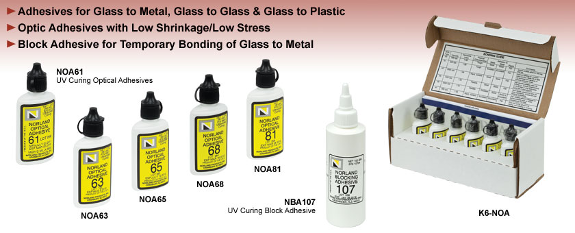UV-Curing Optical Adhesives