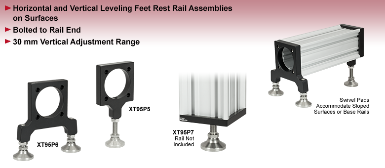 Leveling Feet for 95 mm Rails