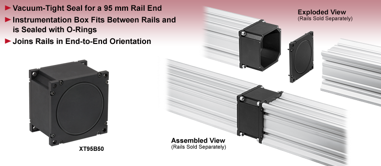 Vacuum-Tight Instrumentation Box for 95 mm Rails