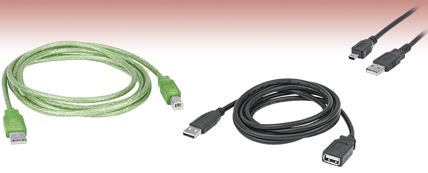 High-Speed USB 2.0 and 3.0 Cables and USB Power Cables