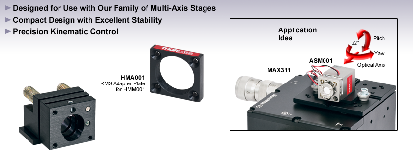 Kinematic Flexure Stage Mounts and Accessories