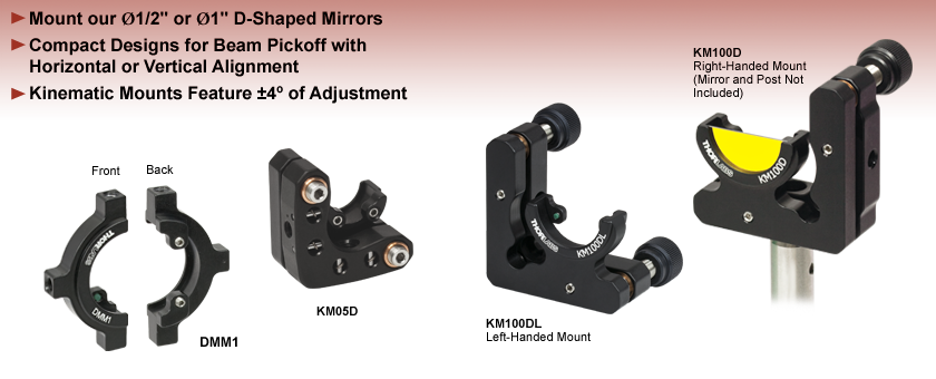 D-Shaped Mirror Mounts