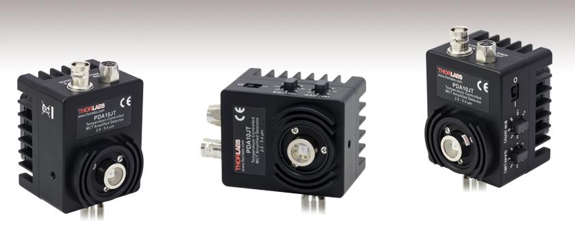 HgCdTe(MCT)増幅光検出器、TEC付き