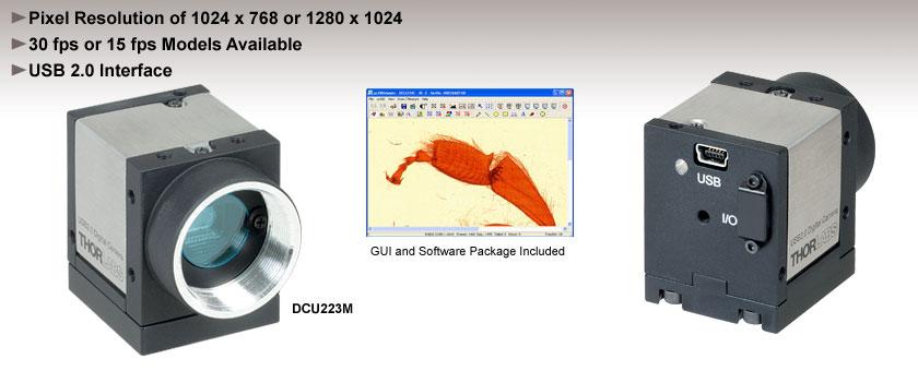 High-Resolution USB CCD Cameras