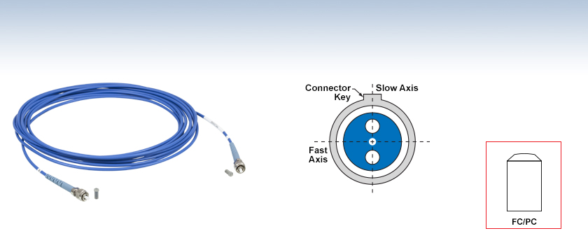 Polarization-Maintaining FC/PC Fiber Optic Patch Cables