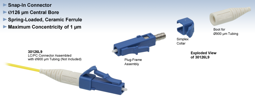 Lc Pc Fiber Connectors Single Mode