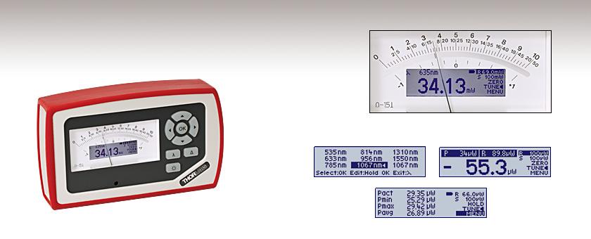 Handheld Laser Power Meters : Analog handheld laser power meter console