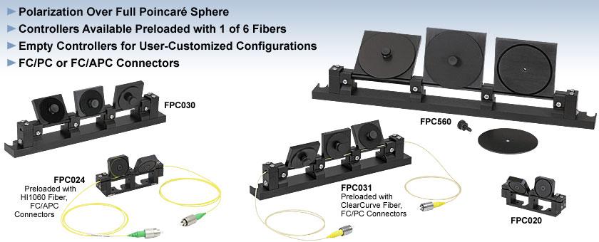Manual Fiber Polarization Controllers