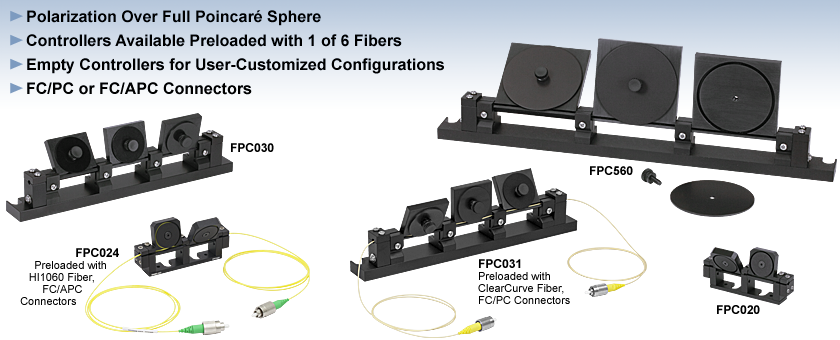 Manual Fiber Polarization Controllers