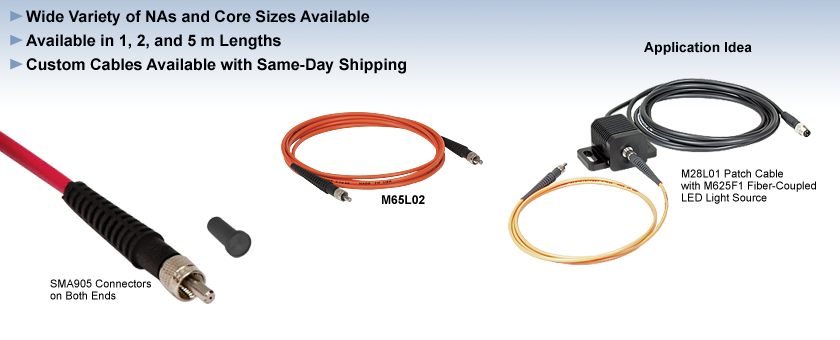 Step-Index Multimode Fiber Optic Patch Cables: SMA-SMA