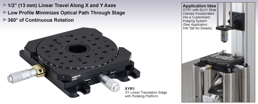 XY Translation Stage with Rotating Platform