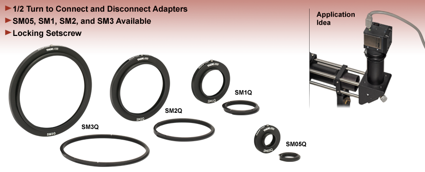 Quick-Release Lens Tube Adapters
