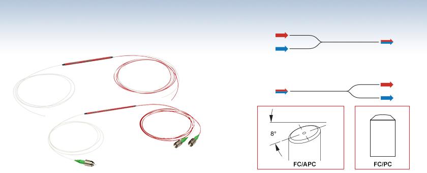 IR, 2-Wavelength, Single Mode WDMs (980 nm and Up)