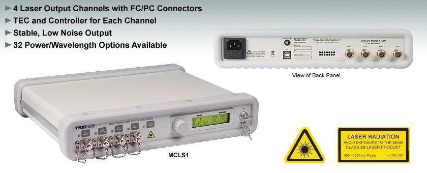 4-Channel Fiber-Coupled Laser Source