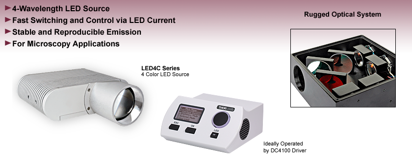 4 Wavelength High-Power LED Source