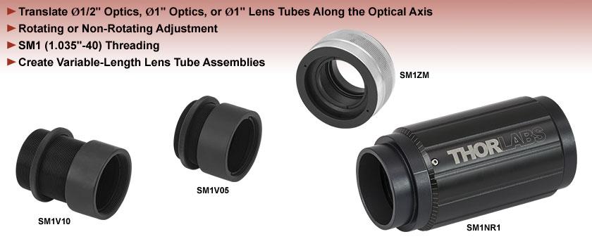 Adjustable Lens Tubes, SM1 Compatible