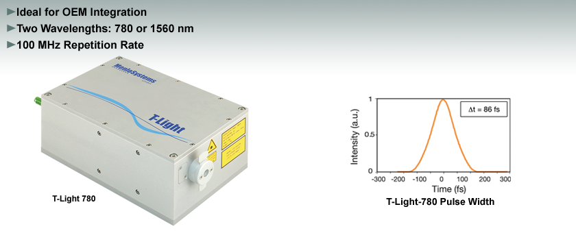 T-Light 780 nm and 1560 nm Femtosecond Fiber Lasers