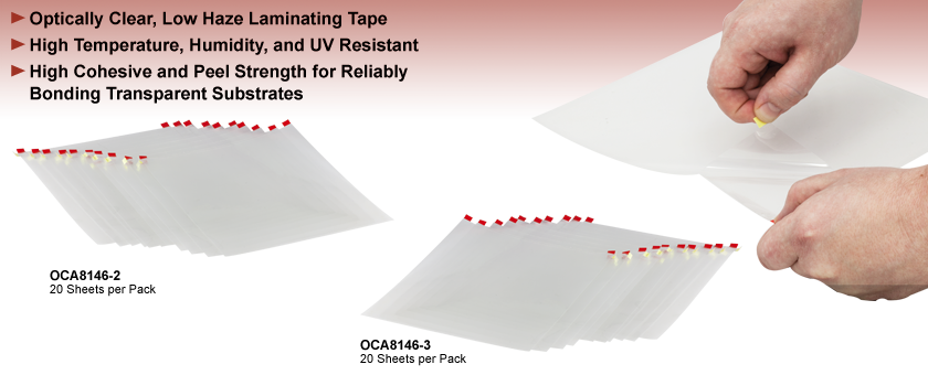 Optically Clear Double Sided Adhesive Tape