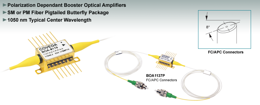 1050 nm Optical Amplifiers