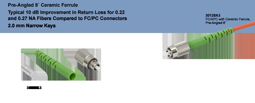 Fc Apc Fiber Connector Multimode Ceramic Ferrule