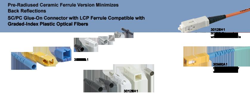 Sc Pc Fiber Connectors Multimode