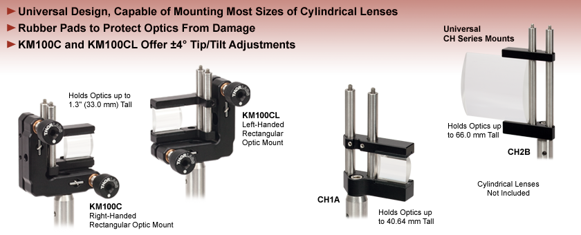 Cylindrical Lens Mounts
