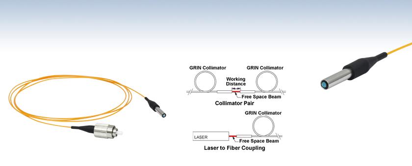 GRIN Fiber Optic Collimators / Couplers, Multimode Fiber