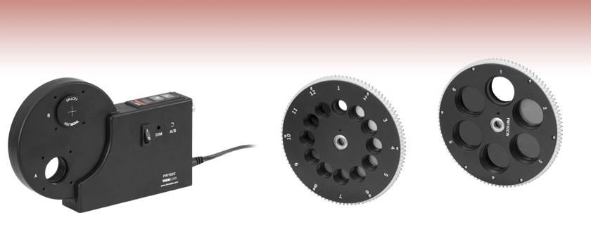 motorized filter wheels  stepper motor driven