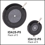 Post-Mountable Iris Diaphragms, Packs of 5<br>