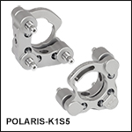 Polaris<sup>®</sup> Ø1in Kinematic Mirror Mount, 3 Adjusters, Monolithic Optic Retention