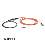 Rotary Joint Patch Cables with Ø400 µm Fiber and Ø2.5 mm Ferrules, Heat-Shrink Tubing