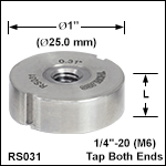 Ø1in (Ø25 mm) Posts, Less than 0.40in (10.2 mm) Length