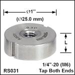 Ø1in (Ø25 mm) Posts, Less than0.40in (10.2 mm) Length