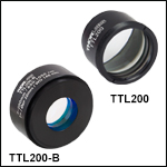 f = 200 mm Tube Lenses for Widefield Imaging<br>