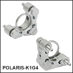 Ø1in Polaris<sup>®</sup> Kinematic Glue-In Mirror Mount, 2 Adjusters
