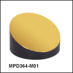 Ø3in Off-Axis Parabolic Mirrors, Protected Gold Coating
