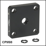 Individual 30 mm Cage Plates for Unmounted Optics from Ø5 mmto Ø20 mm
