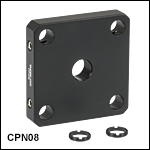 Individual 30 mm Cage Plates for Unmounted Optics from Ø5 mm to Ø20 mm