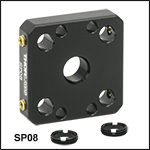 16 mm Cage Plates for Unmounted Optics from Ø5 mm to Ø12 mm