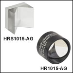 Retroreflecting Hollow Roof Prism Mirror, Ultrafast-Enhanced Silver Coating