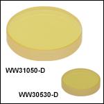 Sapphire Wedged Windows, AR Coating: 1.65- 3.0 µm
