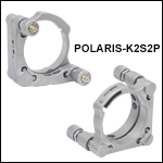 Ø2in Polaris<sup>®</sup> Kinematic Mirror Mount, 2 Piezoelectric Adjusters<br>